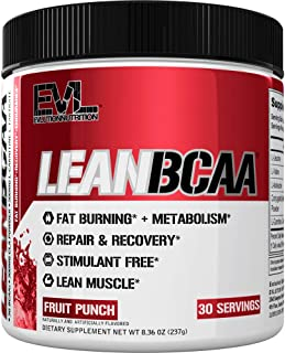 Evlution Nutrition LeanBCAA, BCAA's, CLA and L-Carnitine, Stimulant-Free, Recover and..