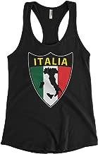 Cybertela Women's Italian Italy Italia Shield Flag Racerback Tank Top