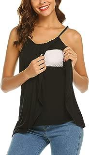 Fanuerg Women's Nursing Tank Tops for Breastfeeding Maternity Clothes Summer Sleeveless Pregnancy Cami Shirts