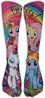 Hunter qiang, Little Pony - Calcetines de compresión para hombre y mujer (largo: 50 cm)