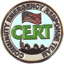 911 Market CERT Patch Lapel Pin Community Emergency Response Team Silver US FEMA - A 04
