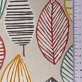 SCHÖNER LEBEN. Tischdecke Canyon Blätter beige braun grün rot Verschiedene Größen, Tischdecken Größe:130x130cm - 5