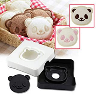 Cute Panda Shape Smile Western Snack Sandwich Cake Bread Maker Mold Toast Box Moulds DIY Cutter Craft TSLM1