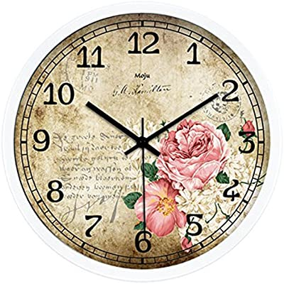 GRTEW CCYYJJ Art Deco Creative Retro Throttle Lounge Wall Clock Mute Quartz Clock Wall Clock Clock