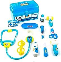Maletin Medicos Juguete - Doctora Juguetes Pretender Maletín de Médico Juguetes Juegos de rol Regalos de Cumpleaños Caja de Juguetes Niñas Niños 3 años +(Azul)