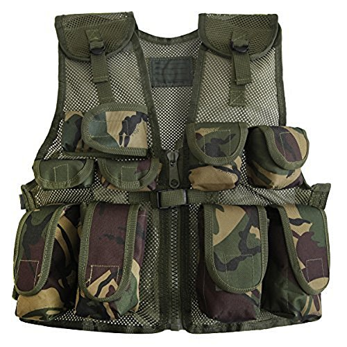 Kids Army Camouflage Combat Vest – Fits Ages 5-13 Yrs