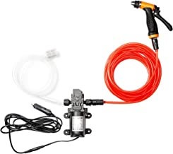 Bang4buck Mini Portable 12V 100W 160PSI High Pressure Car Electric Washer Pump with 21.32 Inch PVC Hose for Home, Garden, Vehicles, Projects