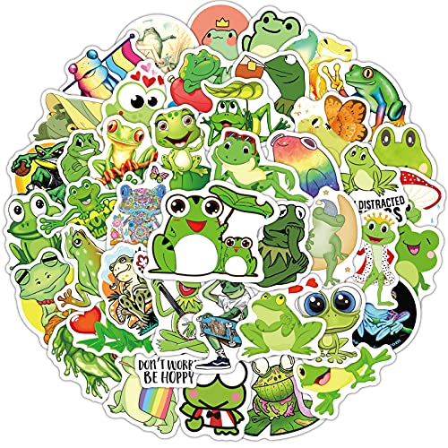 JZLMF 100 Simpatici Cartoni Animati Rana Adesivi Graffiti Misti Personaggio dei Cartoni Animati Tazza d'Acqua Trolley Valigia Adesivi Ragazzi e Ragazze Bambini