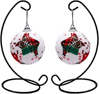 Archi 2 Pack Ornament Display Stand, Iron Hanging Stand Rack Holder for Hanging Glass Globe Air Plant Terrarium, Witch Ball, Christmas Ornament and Home Wedding Decoration(Black)