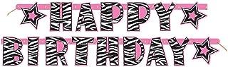 pink zebra print birthday decorations