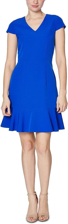 Betsey Johnson Women's Ruffled V Dress Outlet ☆ Free Shipping Neck Hem OFFicial site