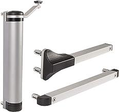 LOCINOX ZILV deursluiter Lion, voor deuren tot 75 kg, aluminium zilverkleurig, zilver