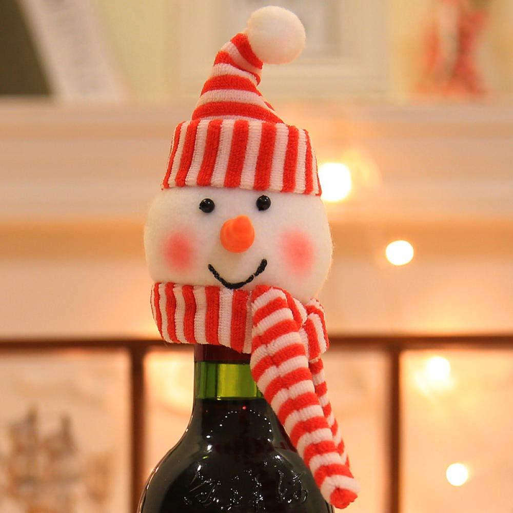 Navidad Botellas De Vino De Navidad Sombreros Navidad Decoraciones De Navidad De Santa Claus Adornos De Navidad De Santa Claus Decoraciones De Botellas De Navidad Artículos De Fiesta @ Snowman_Xmas: Amazon.es: Hogar