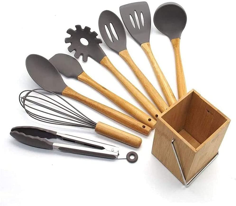 Gyalid Kitchen Super sale period limited Cooking Utensils Set Silicone Non-Stick Max 59% OFF 9 Co pcs