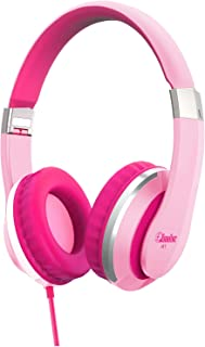 Elecder i41 Kids Headphones, Headphones for Kids Children Girls Boys Teens Foldable Adjustable On Ear Headphones with 3.5mm Jack for iPad Cellphones Computer MP3/4 Kindle Airplane School Pink/Purple