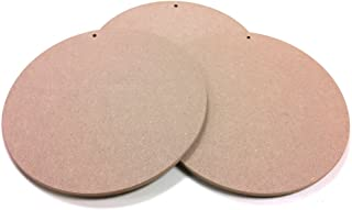 Round MDF Wood Craft Plaque Sign 10-inch, 3-Pack (SJT00065)