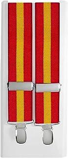 JOSVIL Tirantes Bandera España Elásticos de Hombre. Tirantes Bandera de España elegantes y cómodos.: Amazon.es: Ropa y accesorios