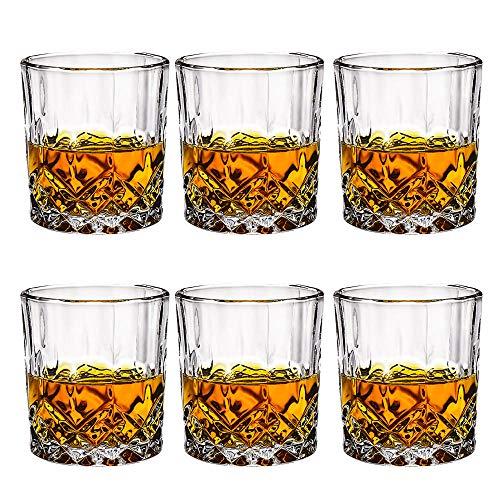 Generic Whiskybecher Set,aus Hochwertige Qualität bleifrei Kristallglas,Kristallgläsern zum Trinken von Bourbon, Scotch, Wodka, Perfekt für zu Hause, Restaurants und Bar,230ml-6-teiliges Set