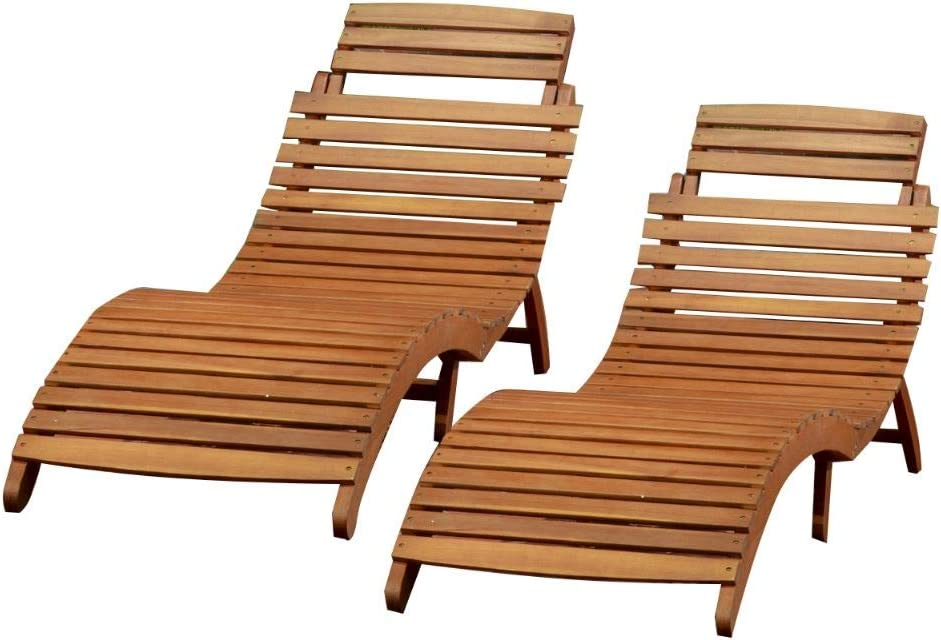 Christopher Max 73% OFF Knight Home Lahaina Wood Set Outdoor Chaise Lounge Save money