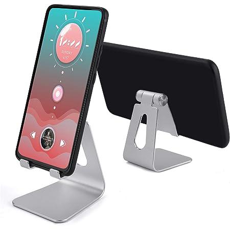 TXG Universal Soporte Celular, Soporte de Tablet Multiángulo, Base Tablet Compatible con Tablet/Teléfono Celular Inteligente, Base para Celular Plata