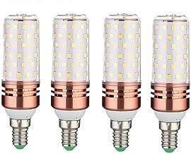 4 stks Dimbare Kandelaar LED-lampen, 85-265v E14 E27 Led Lamp Hoge Heldere Constante Huidige 3 Kleuren Dimmen LED Kaars Bu...