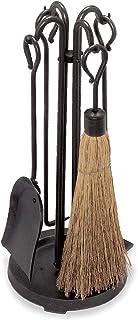 "Pilgrim Home and Hearth Pilgrim 18000 Compact Wood Stove Tool Set, 18000, Forged Iron + Cast Iron Base, Vintage Iron, 23"" ..."