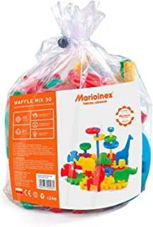 Marioinex 900031 Waffle Blocks Mix, 30 Pieces, Multi-Colour