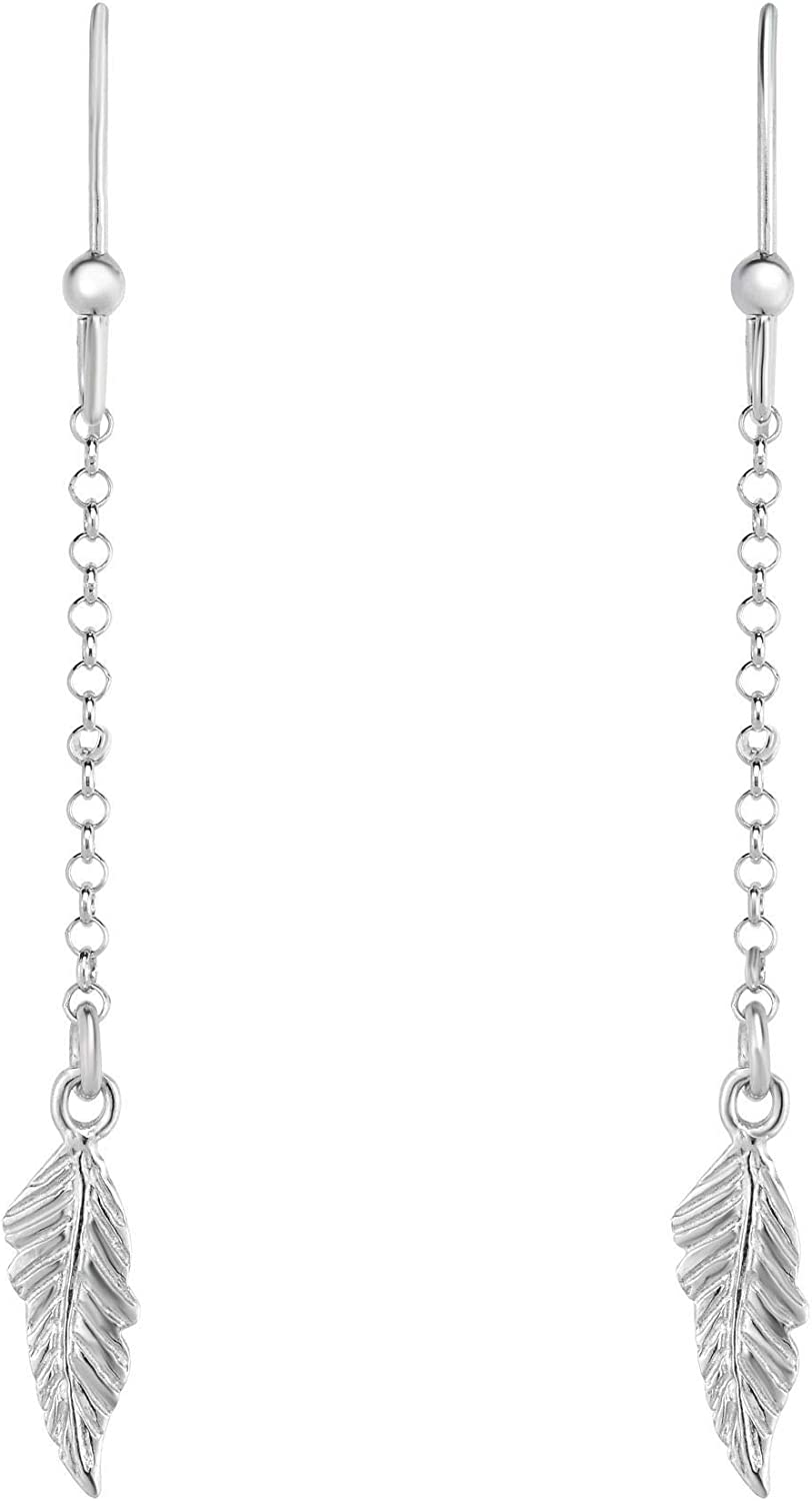 Silver Special Campaign with Rhodium Finish Shiny Fancy Drop Euro New Orleans Mall Earring Wi
