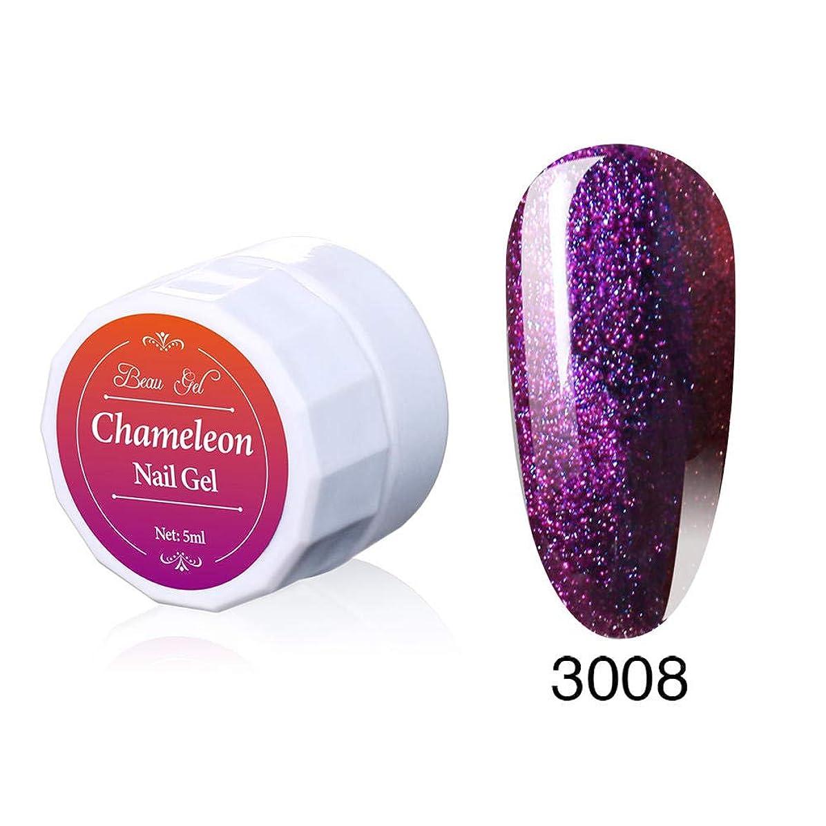 受信機コインランドリー汚染するBeau gel ジェルネイル カラージェル 変色系 1色入り 5ml-3008