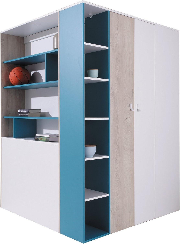 Furniture24_eu Eckkleiderschrank Eckschrank Begehbarer Schrank Planet Jugendzimmer
