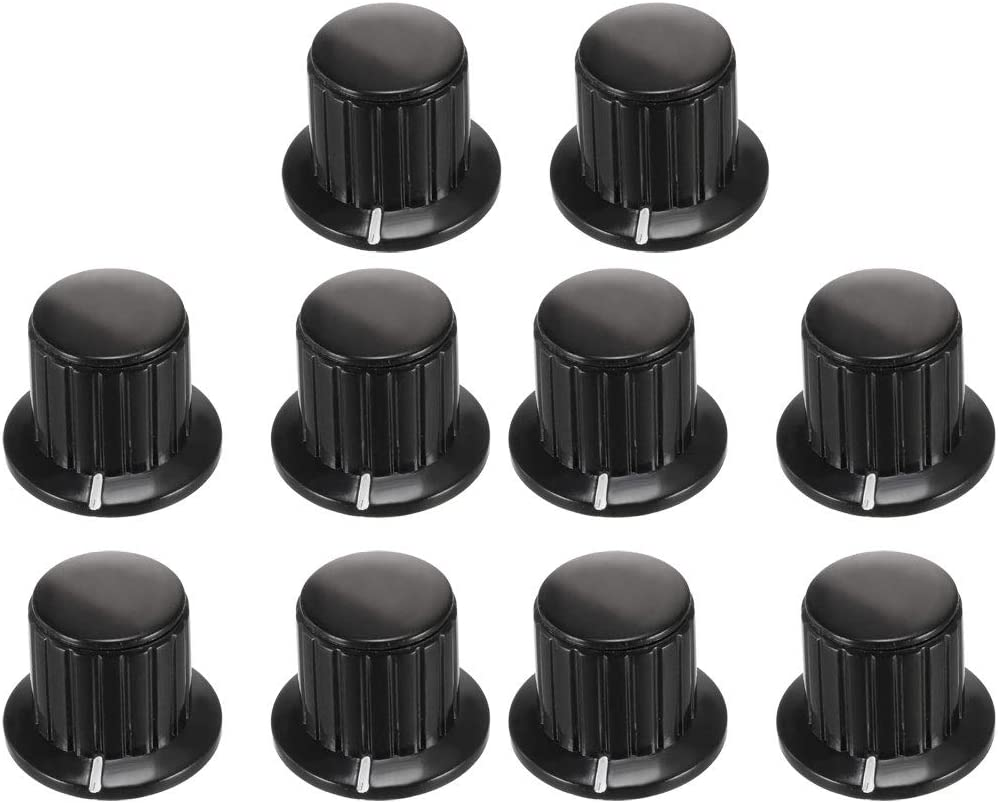 uxcell 10Pcs 25x19.5mm Plastic Potentiometer Knob for Rotary security Ranking TOP13 6m
