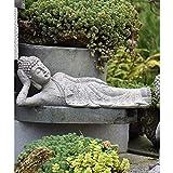 LIUSHI Meditación pacífica Sentado Buda Meditación Budismo Jardín Zen Estatua Decoración, Buda recli...