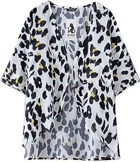 JERFER Mujer Cardigan Invierno Raya Abierto Rebecas Chaqueta De Punto Cárdigan Kimono Reducción de Precio
