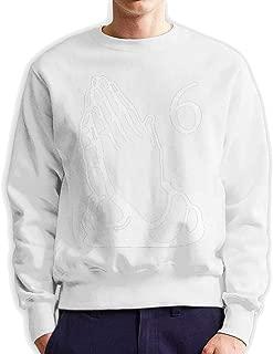 Men's Casual Style Sports Crew Neck Sweatshirt Print 6 Pray Hands OVO Drake Owl Sweater for Men