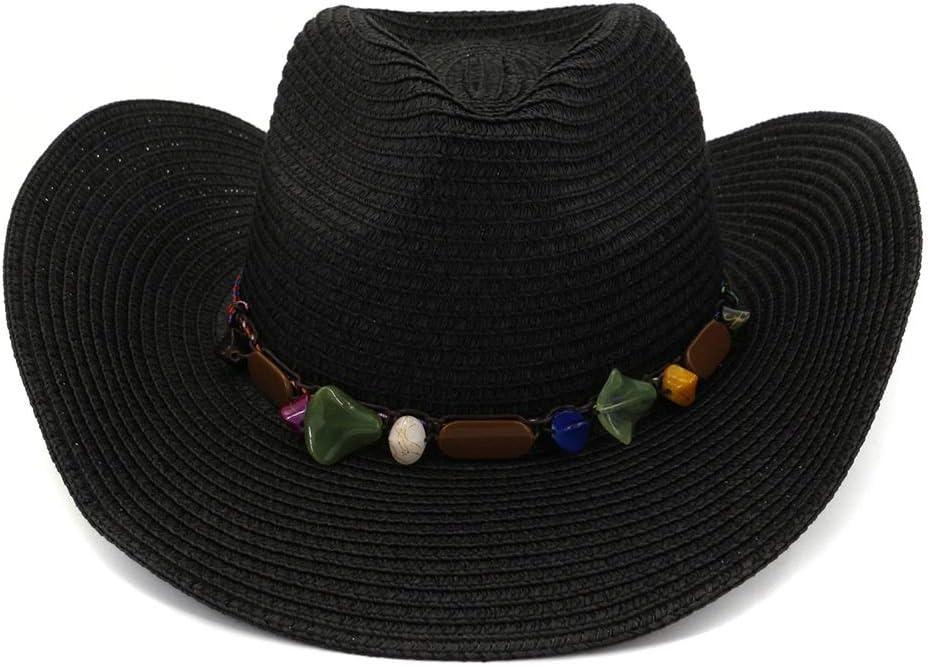 LIRRUI Summer Straw Inexpensive Hat Women Men Western Arlington Mall Outdo Cowboy