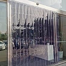 PVC Strip Gordijn, 7 Strips Vinyl Strip Deur Gordijn 2mm Dikte, PVC Strip Gordijn Kit voor Personeel Deur/Koeler Vriezer D...