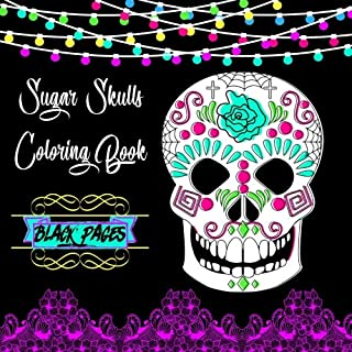 Sugar Skulls Coloring Book Pages