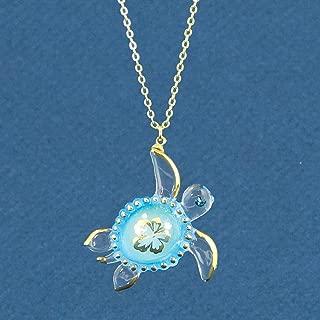 glass turtle pendant necklace