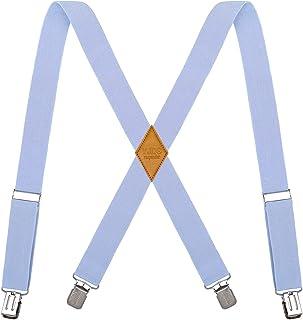 Suspenders YJDS for Men X Back Heavy Duty Adjustable Adjustable با 4 گیره فلزی