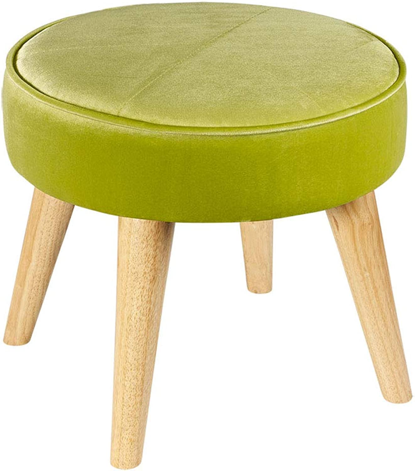 CQOZ Change shoes and Stool Fabric Sofa Stool Solid Wood feet Low Stool Simple and Modern Footstool Wear shoes Small Stool 40 × 36cm Sofa Stool (color    7)