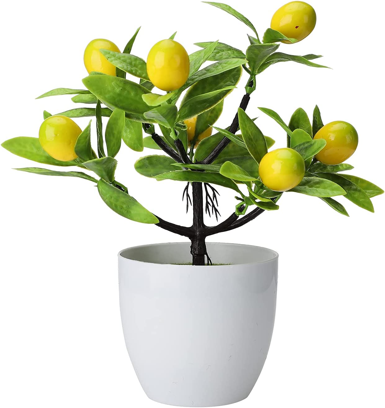 2Pcs Mini Artificial Lemon Tree online shopping Fake Potted Bonsai Yellow Plant Max 57% OFF