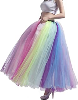 MisShow Women's A Line Pleated Long Maxi Tutu Tulle Party Skirts