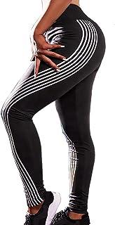 SEASUM Women 3D Printed Butt Yoga Leggings Gym Capri Workout High Waist Running Pants Causual Fitness