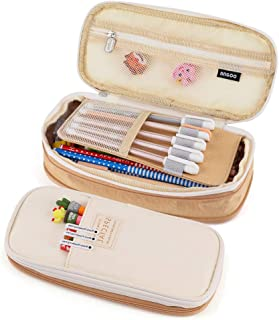 iSuperb Large Capacity Zipper Pencil Case Pen Pouch Bag Office Student Canvas Stationery Bag Case