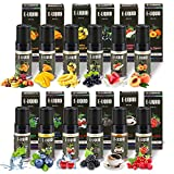 WOSTOO E-Liquide, 12 X 10 ML E Liquide Mélange de Fruits, 50VG/50PG Vape E Liquide pour pour Cigarette Électronique, E-Cigarette...