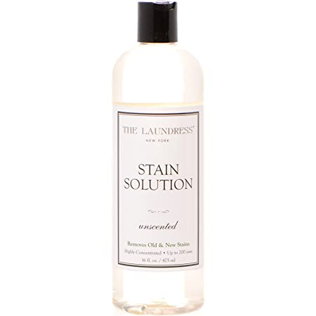 The Laundress New York Stain Solution, Unscented, Clothing Stain Remover, Baby Stains and Blood Spots on Laundry, Liquid Spot Remover, Laundry Stain Remover, 16 fl oz, 200 uses, clear (S-020)