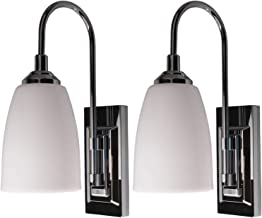Rite Lite Battery-Operated LED Light Wall Sconce, 2 Pack - Easy Wireless Installation - Elegant Chrome Finish, Perfect Ind...