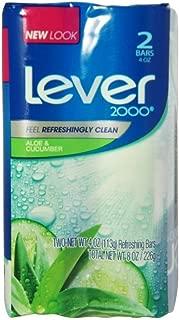 Lever 2000 Refreshing Bar Soap, Fresh Aloe & Cucumber 4 oz, 2 ea (Pack of 5)