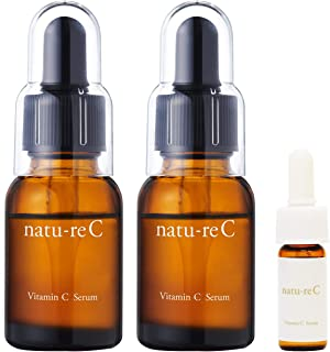 natu-reC(ナチュールシー) ビタミンC美容液 ピュアビタミンC配合 くすみ・乾燥に たっぷり使える30日分 18ml 日本製 持ち運びに便利なトラベルサイズ付き 2本セット
