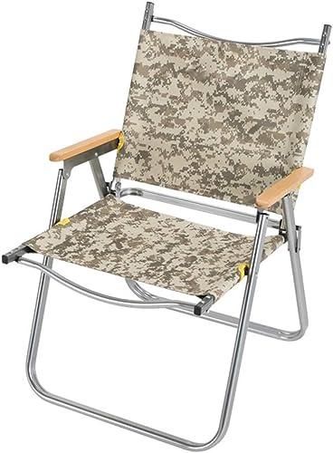 HYXI-Chaise Pliante Chaise Pliante extérieure, Fauteuil, portatif Plage de Randonneur Camping de pêche Croquis siège de Loisirs Camouflage   Charge maximale 100 kg